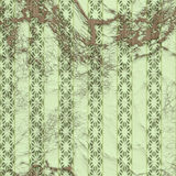 Seamless green Edwardian Wallpaper Royalty Free Stock Photography