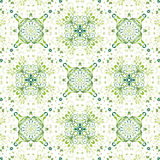 Seamless green floral background Stock Photography