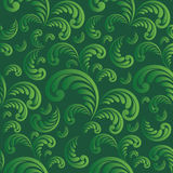 Seamless green floral background Royalty Free Stock Images