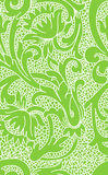 Seamless green floral lace pattern. Seamless white floral lace pattern on green background Stock Photo