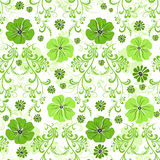 Seamless green floral pattern Royalty Free Stock Photo