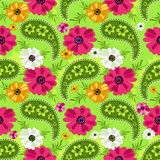 Seamless green floral pattern Stock Photography