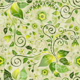 Seamless green floral pattern Royalty Free Stock Images