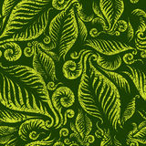 Seamless green floral pattern stock illustration