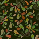 Seamless green floral pattern. Stock Images