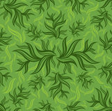 Seamless green floral pattern with leafs Royalty Free Stock Image