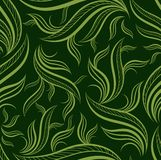 Seamless green floral pattern with leafs Royalty Free Stock Images