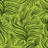Seamless green floral pattern with leafs Stock Image