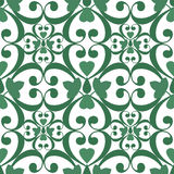 Seamless green floral pattern white texture background Stock Image