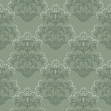 Seamless green floral wallpaper Stock Images