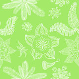 Seamless green flower background Royalty Free Stock Photo