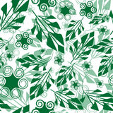 Seamless green foliage pattern Royalty Free Stock Photo