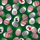 Seamless green  gambling background with red and black symbols o Royalty Free Stock Photos