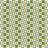 Seamless green geometric background Royalty Free Stock Images