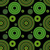 Seamless green geometric pattern Stock Images