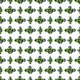 Seamless green geometric pattern on a white background Royalty Free Stock Images