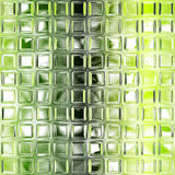 Seamless green glass tiles texture Stock Images