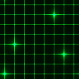 Seamless green grid with stars Royalty Free Stock Photo