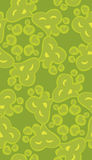 Seamless Green Heart Pattern Stock Images