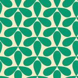 Seamless green helices geometric pattern. Green helices geometric pattern. Seamless tile stock illustration
