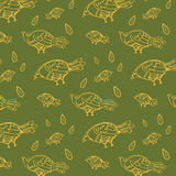Seamless green herringbone pattern vectorNon seamless birds background, thin line style, flat design Royalty Free Stock Photography