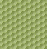 Seamless green hexagon pattern. Background with 3d effect Royalty Free Stock Images