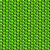Seamless green hexagonal pattern. Abstract green pattern with three dimension hexagonal texture Stock Images