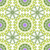 Seamless green lace pattern on white background Royalty Free Stock Photos