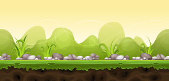 Seamless Green Landscape For Game Ui Royalty Free Stock Images