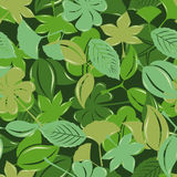Seamless green leaf pattern royalty free illustration