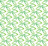 Seamless green leaf pattern vector background Stock Photo