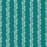 Seamless green leaf pattern. Seamless vertical green leaf pattern Vector Illustration