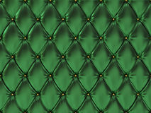 Seamless green leather upholstery pattern, 3d illustration Royalty Free Stock Photography