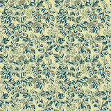 Seamless green leaves autumn pattern Royalty Free Stock Photos