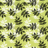 Seamless green leaves background Royalty Free Stock Images