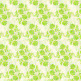 Seamless green leaves floral pattern vector Royalty Free Stock Images