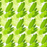 Seamless green leaves floral pattern vector Royalty Free Stock Image