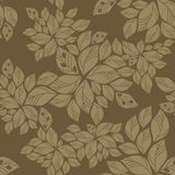 Seamless green leaves pattern Stock Images