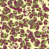 Seamless green leaves pattern. Autumn background Royalty Free Stock Photos