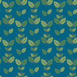 Seamless green leaves pattern background Royalty Free Stock Photography