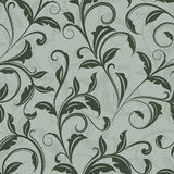 Seamless green leaves pattern Royalty Free Stock Photo