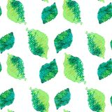Seamless green leaves pattern Royalty Free Stock Image