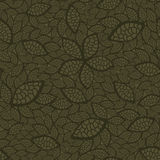 Seamless green leaves wallpaper Royalty Free Stock Photography