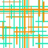 Seamless green-orange grid Stock Photo