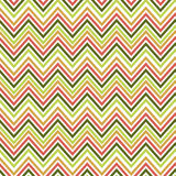 Seamless green and orange zig zag pattern. Vector illustrated retro background. Warping paper texture Stock Image