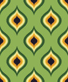 Seamless green ornament mesh background Stock Photo