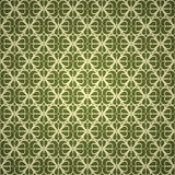 Seamless green ornament wallpaper Stock Photo