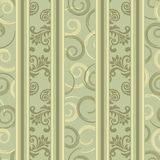 Seamless green ornamental decorative pattern. Seamless background with stripes for design, Illustration stock illustration