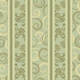 Seamless green ornamental decorative pattern Royalty Free Stock Photography