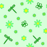 Seamless green pattern Stock Image